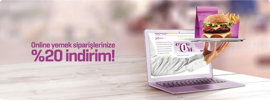 Online yemek siparişlerinizde %20 indirim!