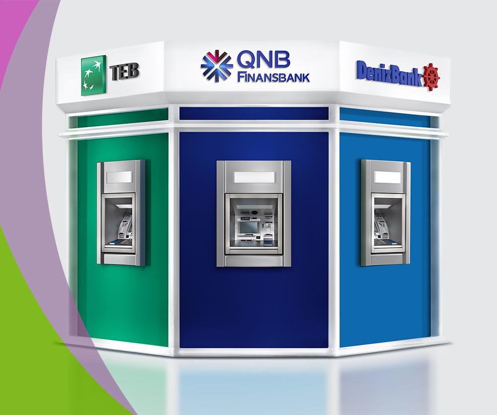 "Üç banka ""Tek ATM""!"