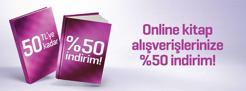Online kitap alışverişlerinize %50 indirim!