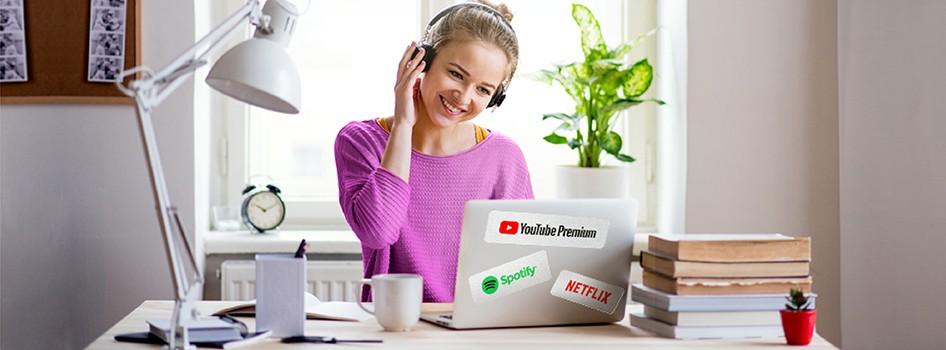 Spotify, Netflix ve YouTube Premium'da %50 indirim!